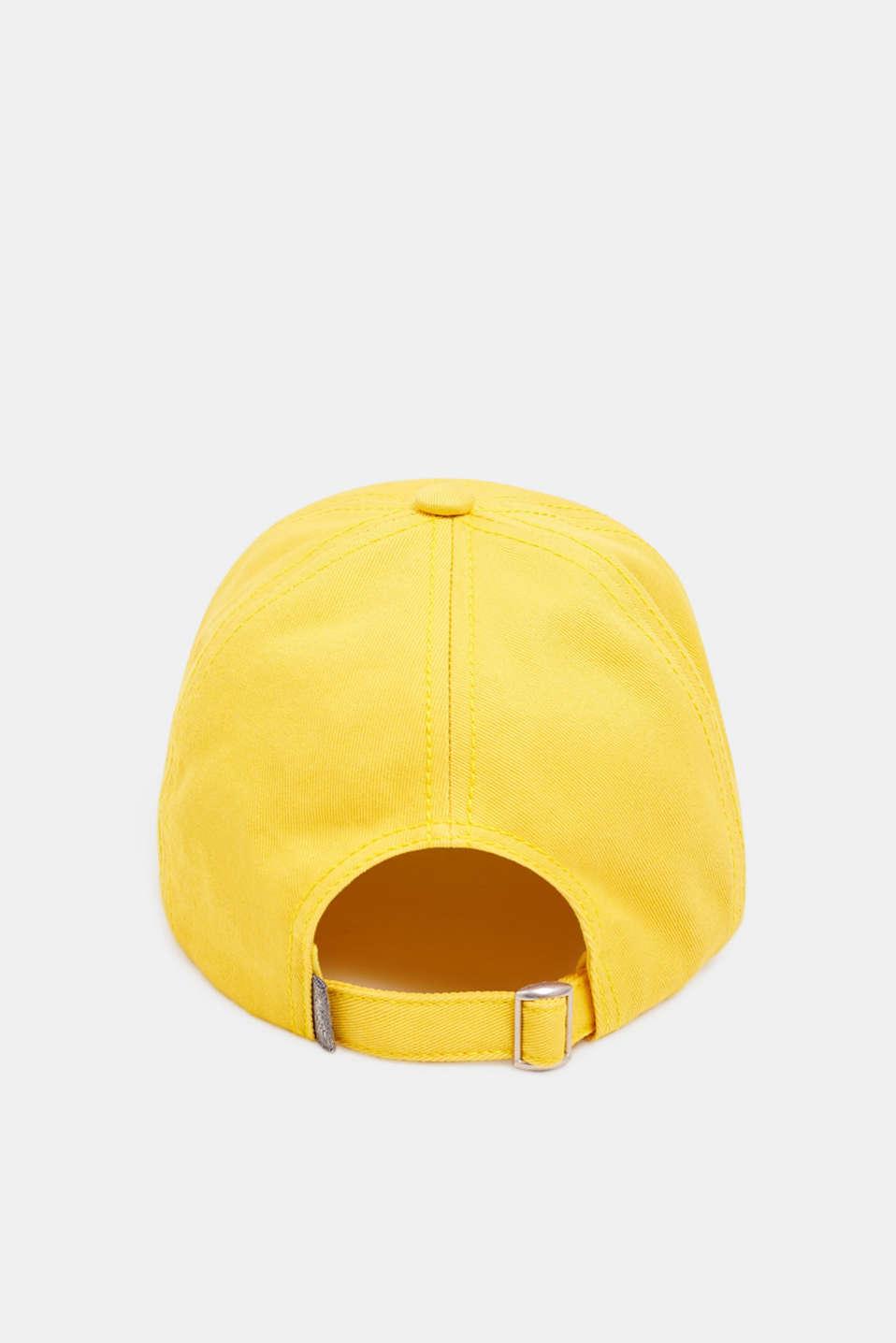 CRAIG & KARL: 100% cotton baseball cap, BRIGHT YELLOW, detail image number 3