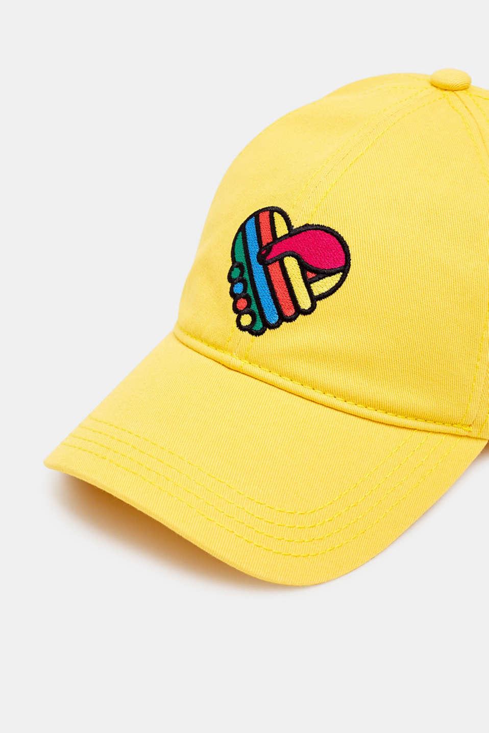 CRAIG & KARL: 100% cotton baseball cap, BRIGHT YELLOW, detail image number 1