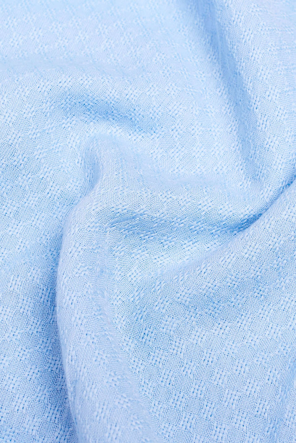 Snood with a woven pattern, 100% cotton, LIGHT BLUE, detail image number 2