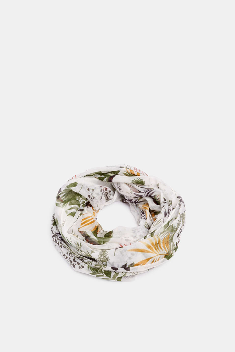Esprit - Snood with a tropical print