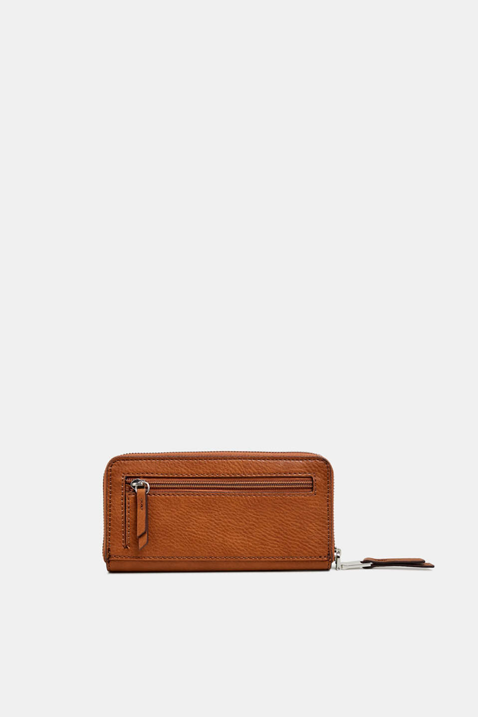 Faux leather purse, RUST BROWN, detail image number 2