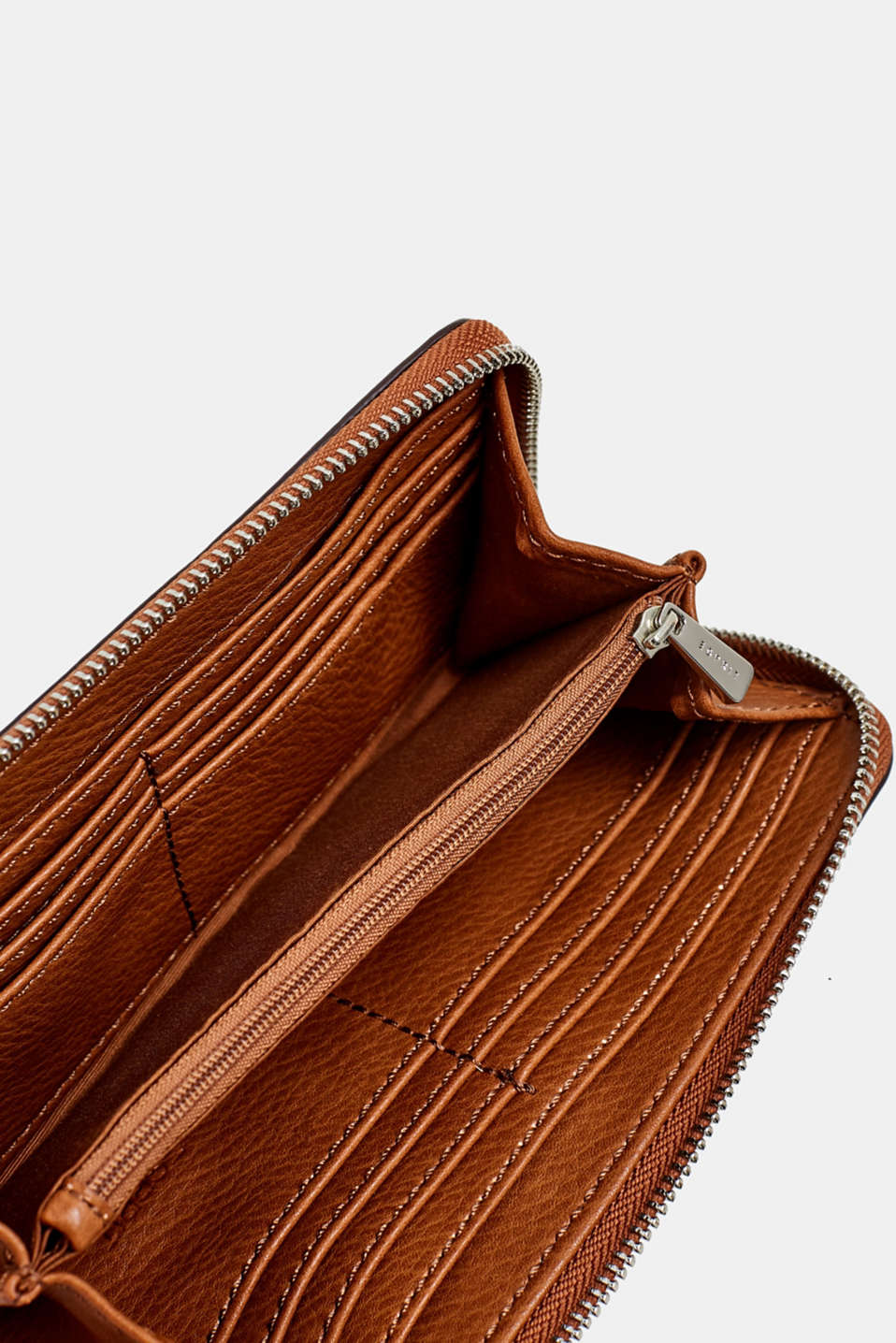 Faux leather purse, RUST BROWN, detail image number 3