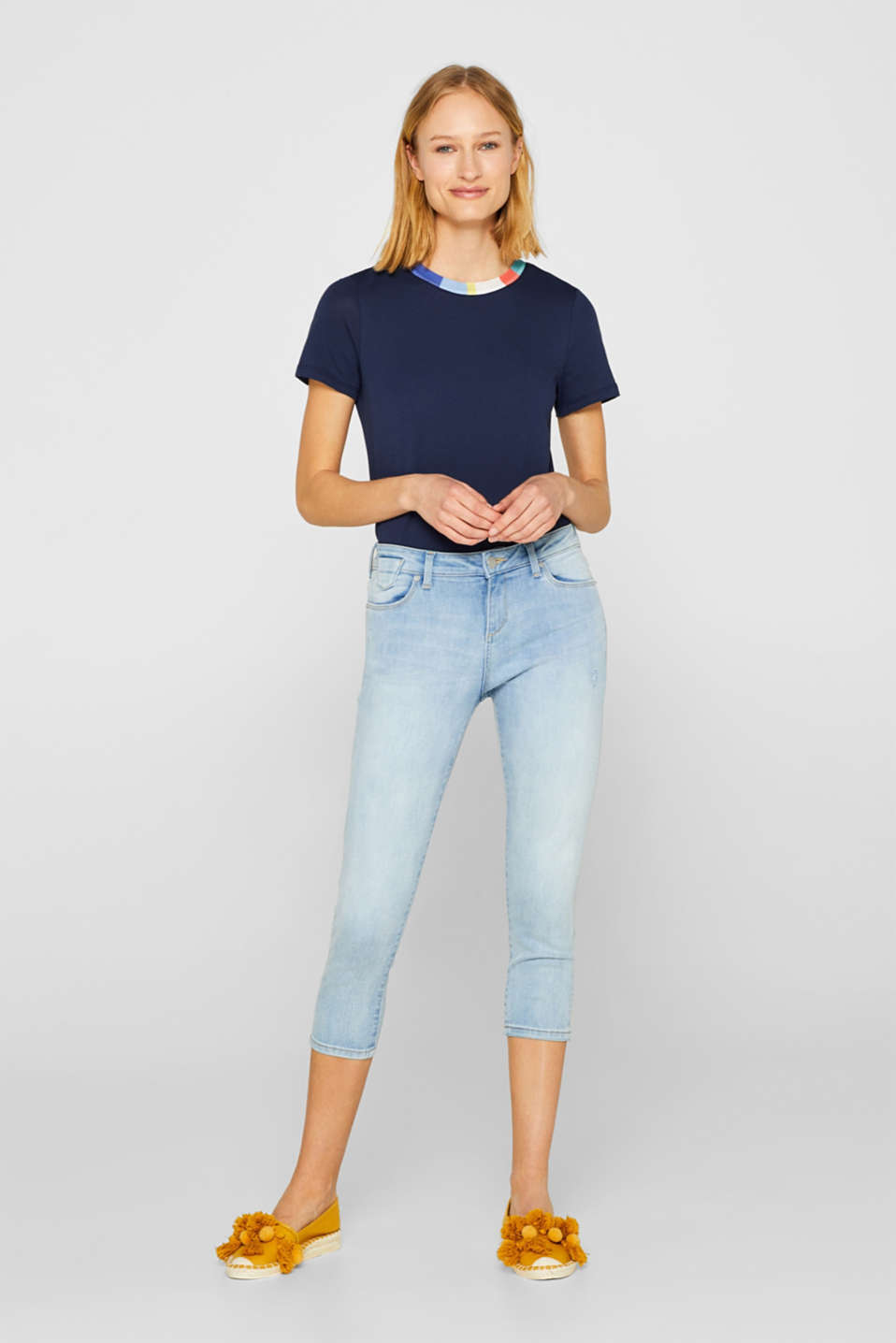 Esprit - Capri-Stretch-Jeans mit Organic Cotton