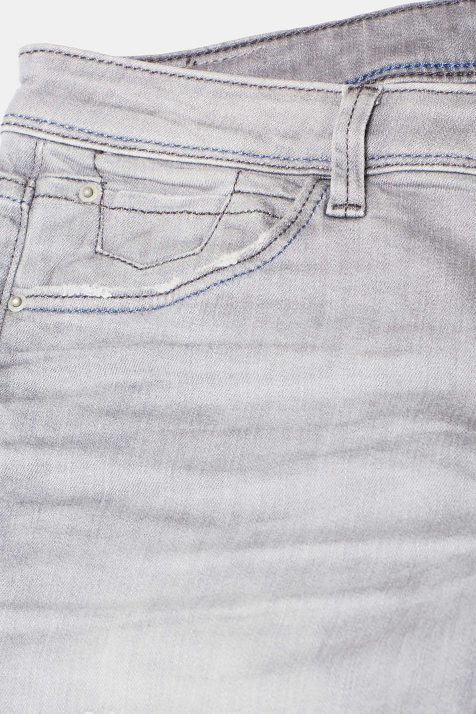 Pants denim, GREY LIGHT WASH, detail image number 4