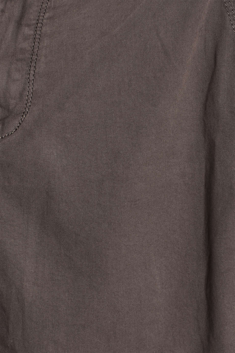 Shorts in a garment-washed look, 100% cotton, DARK GREY, detail image number 4