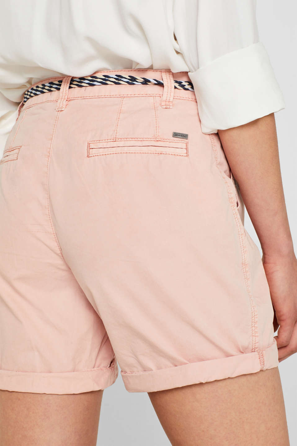 Shorts in a garment-washed look, 100% cotton, LIGHT PINK, detail image number 5