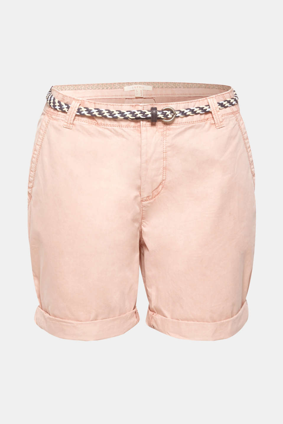 Shorts in a garment-washed look, 100% cotton, LIGHT PINK, detail image number 6