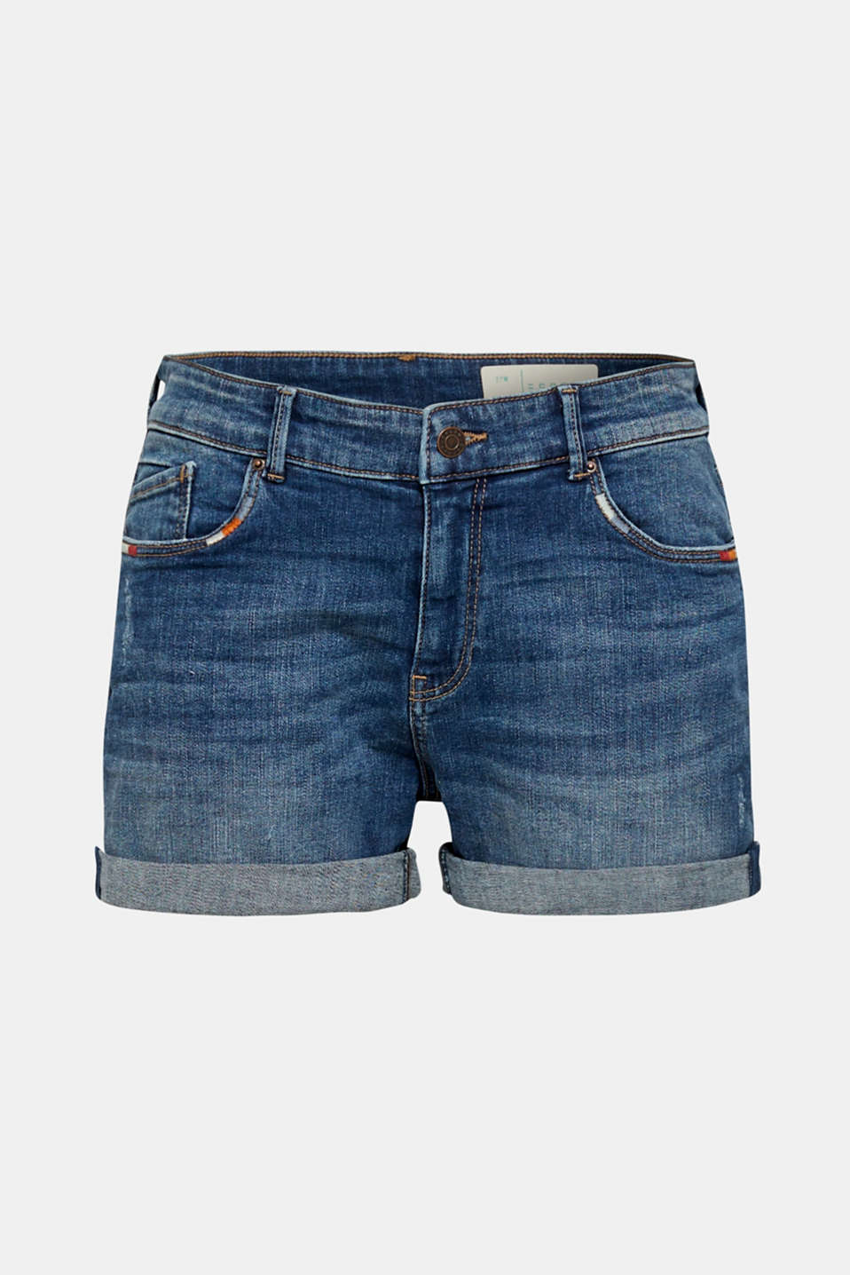 Shorts denim, BLUE MEDIUM WASH, detail image number 9