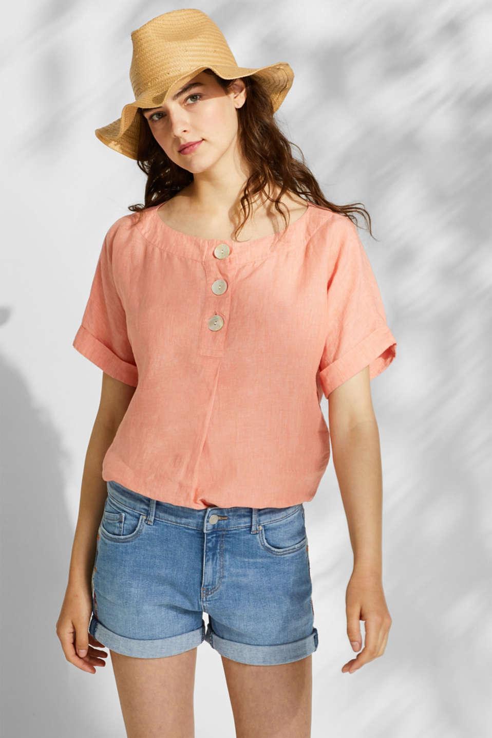 Stretch denim shorts containing organic cotton, BLUE LIGHT WASH, detail image number 5