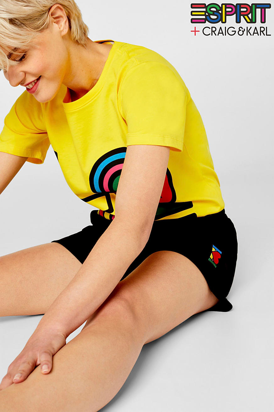 CRAIG & KARL: Women sweatshirt fabric shorts, organic cotton