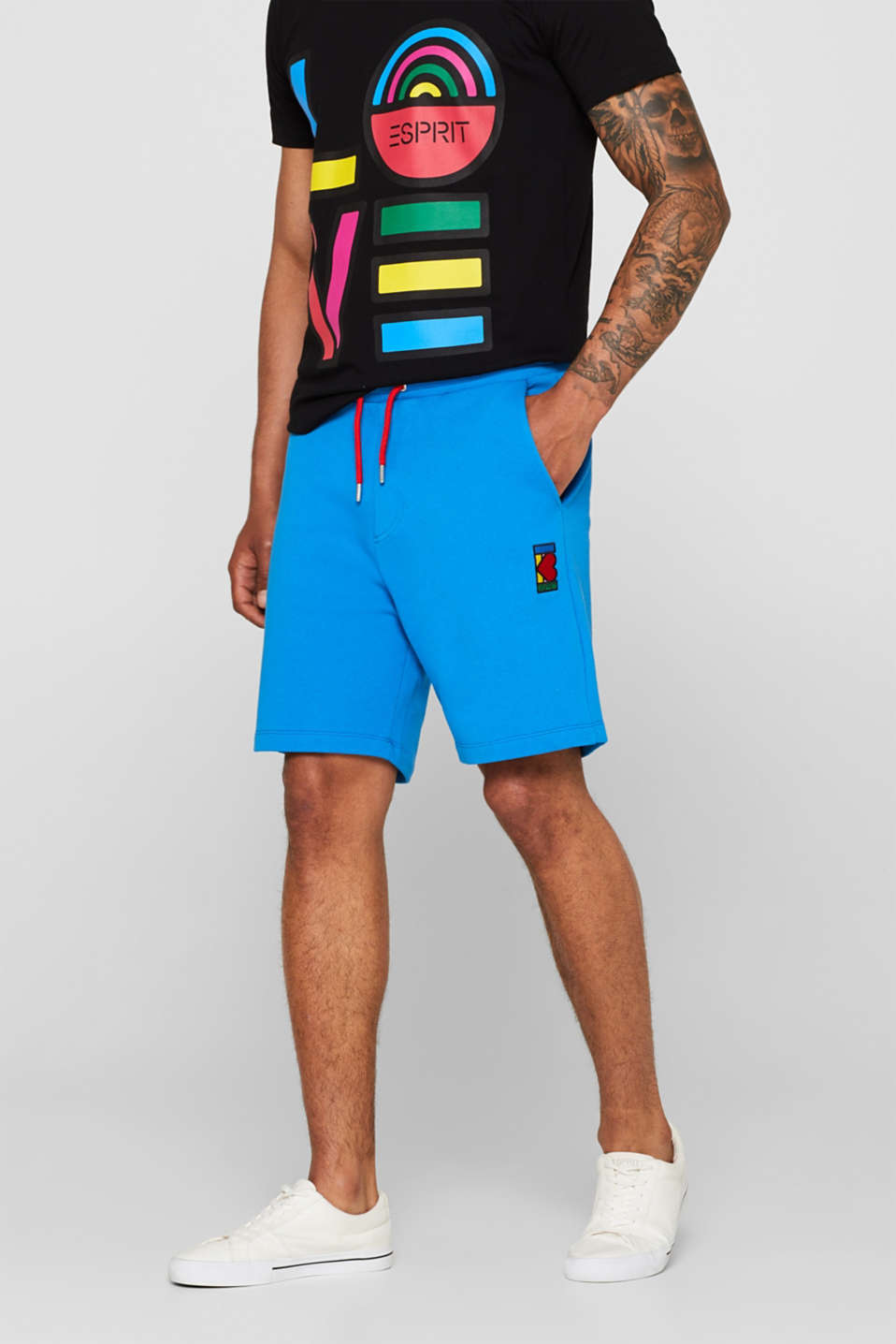 Esprit - CRAIG & KARL: Men sweatshirt fabric shorts, organic cotton