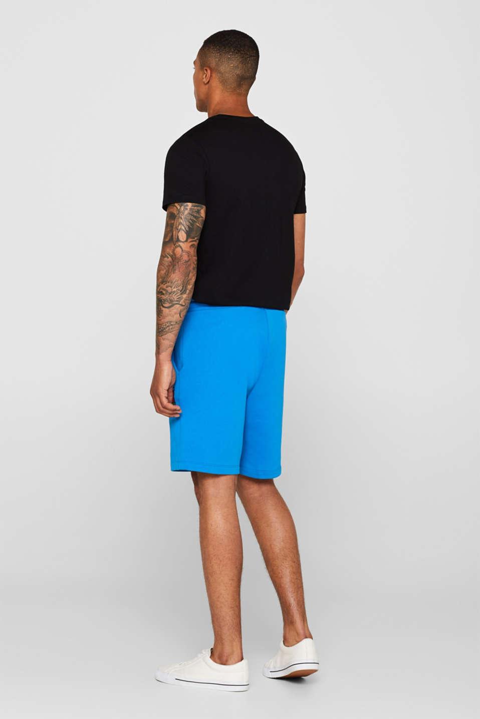 CRAIG & KARL: Men sweatshirt fabric shorts, organic cotton, BLUE, detail image number 3