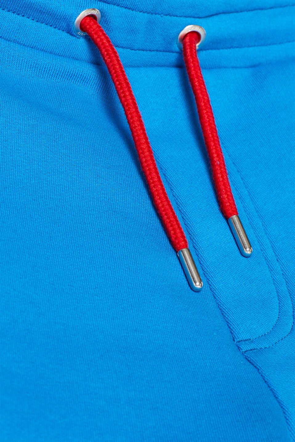 CRAIG & KARL: Men sweatshirt fabric shorts, organic cotton, BLUE, detail image number 4