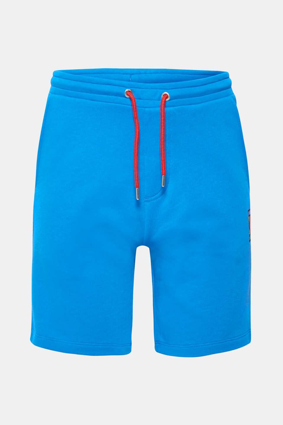 CRAIG & KARL: Men sweatshirt fabric shorts, organic cotton, BLUE, detail image number 5