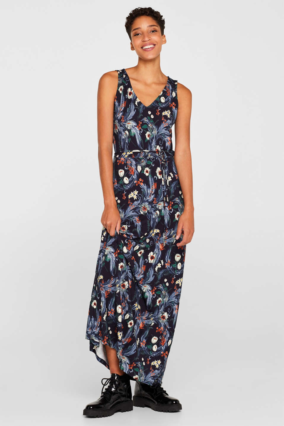 Esprit - Stretch jersey maxi dress