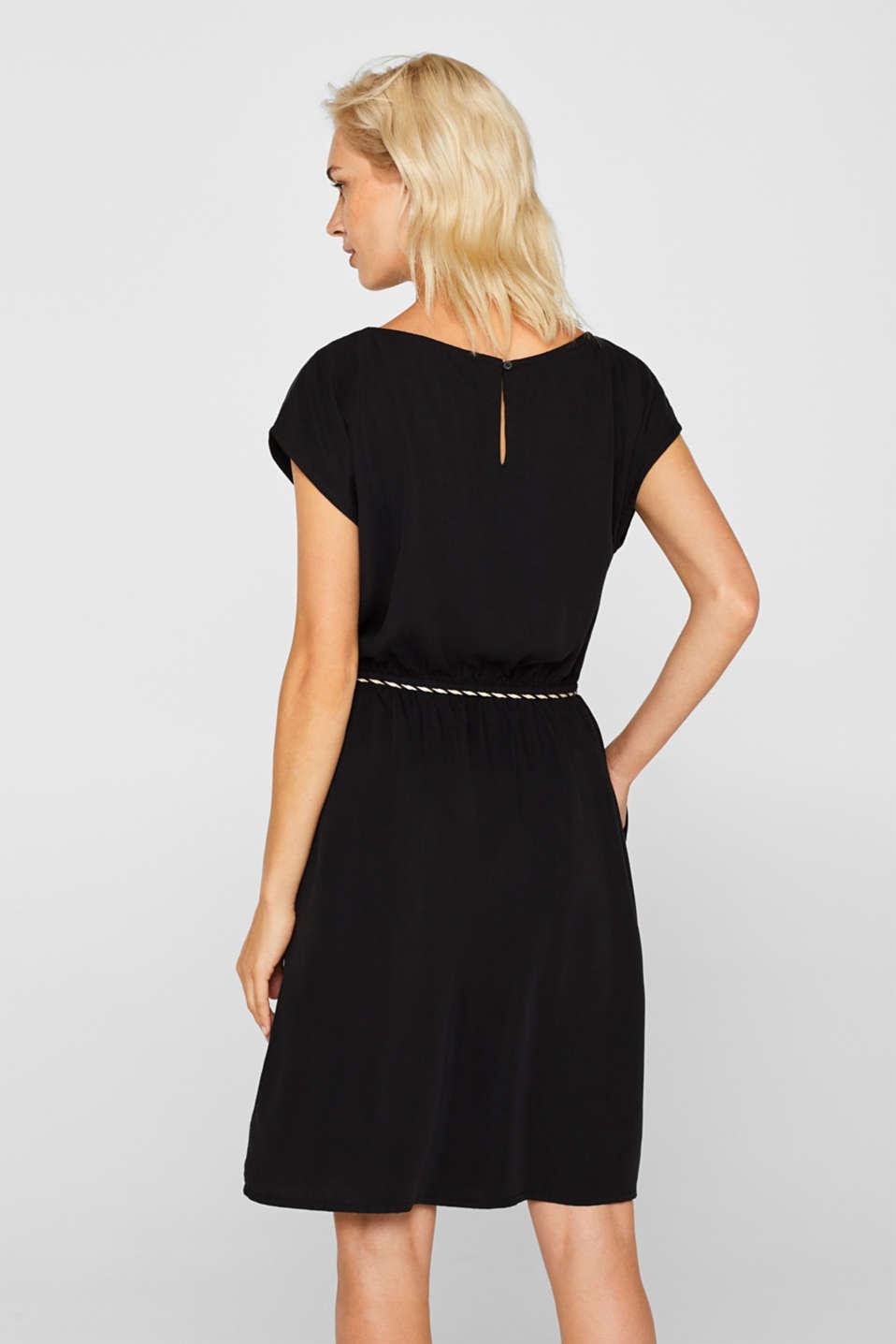 Dresses light woven, BLACK, detail image number 2