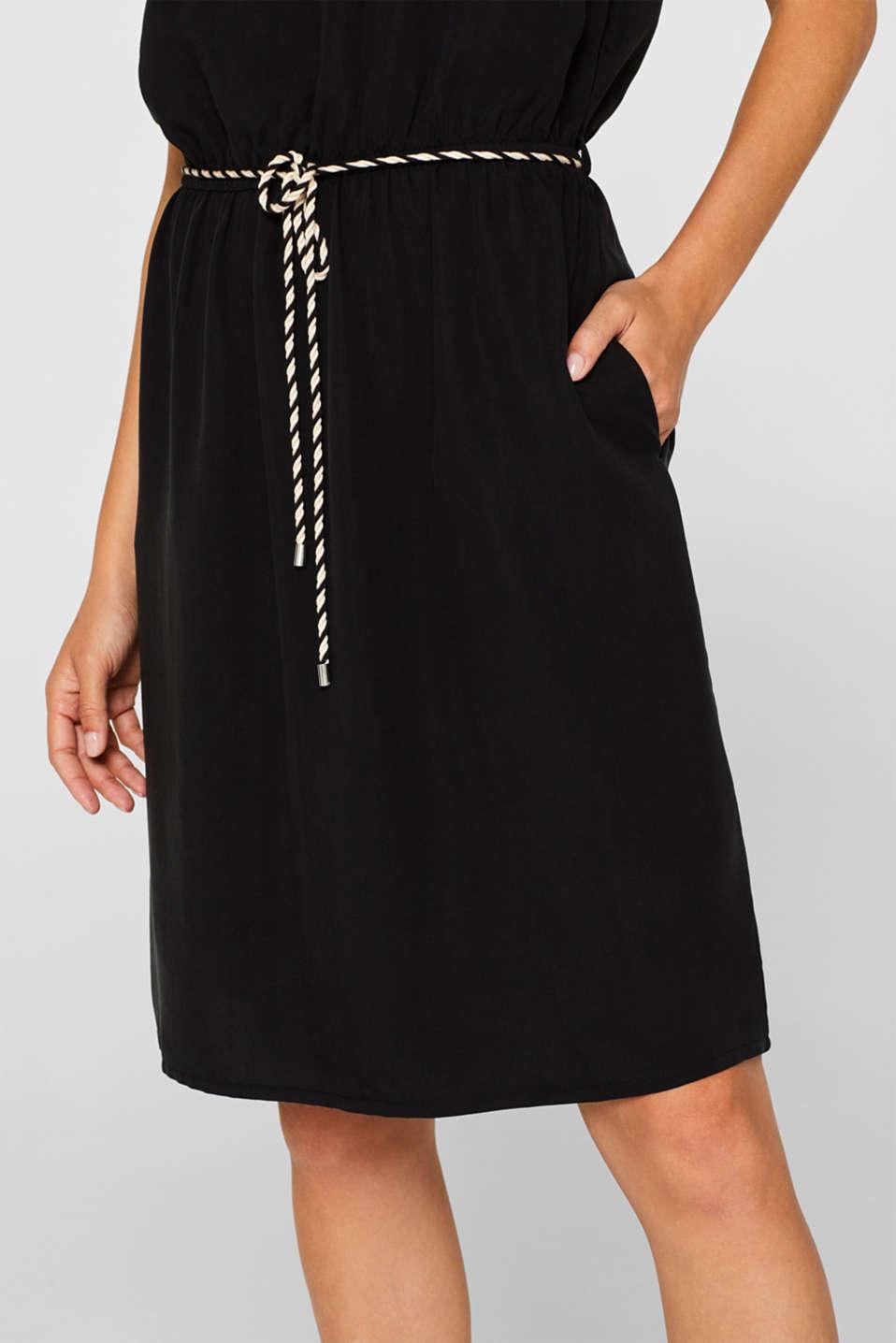 Dresses light woven, BLACK, detail image number 3