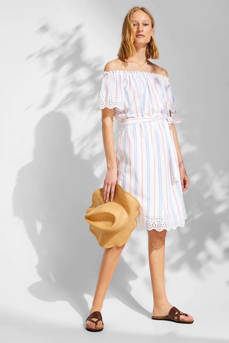 Dresses light woven, OFF WHITE, detail image number 1