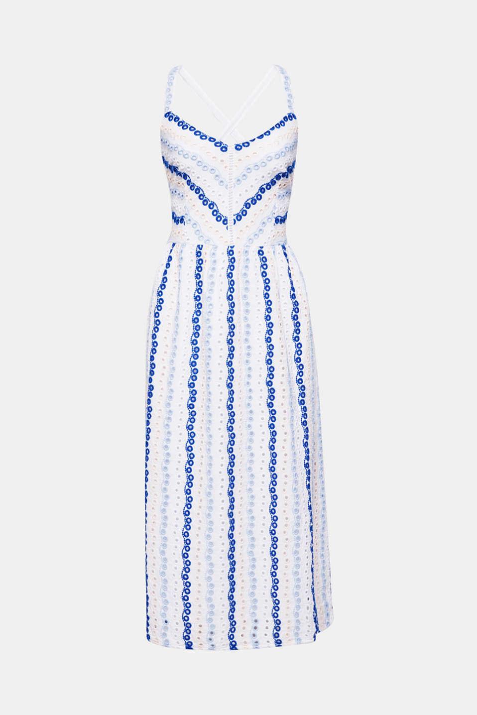 Dresses light woven, WHITE, detail image number 7