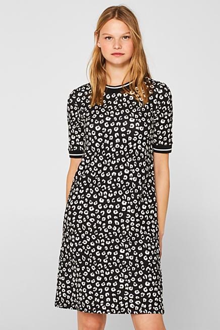 552b72b7e59 Jersey-Kleid mit Stretch und Animal-Print