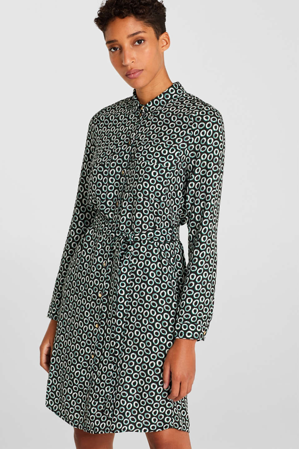 Esprit - Overhemdjurk met all-over print