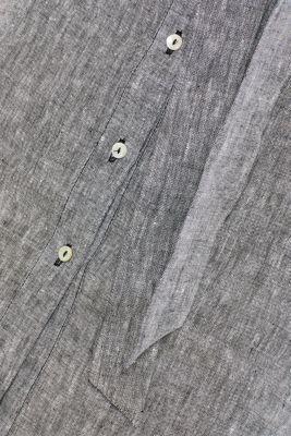 Made of 100% linen: melange shirt dress