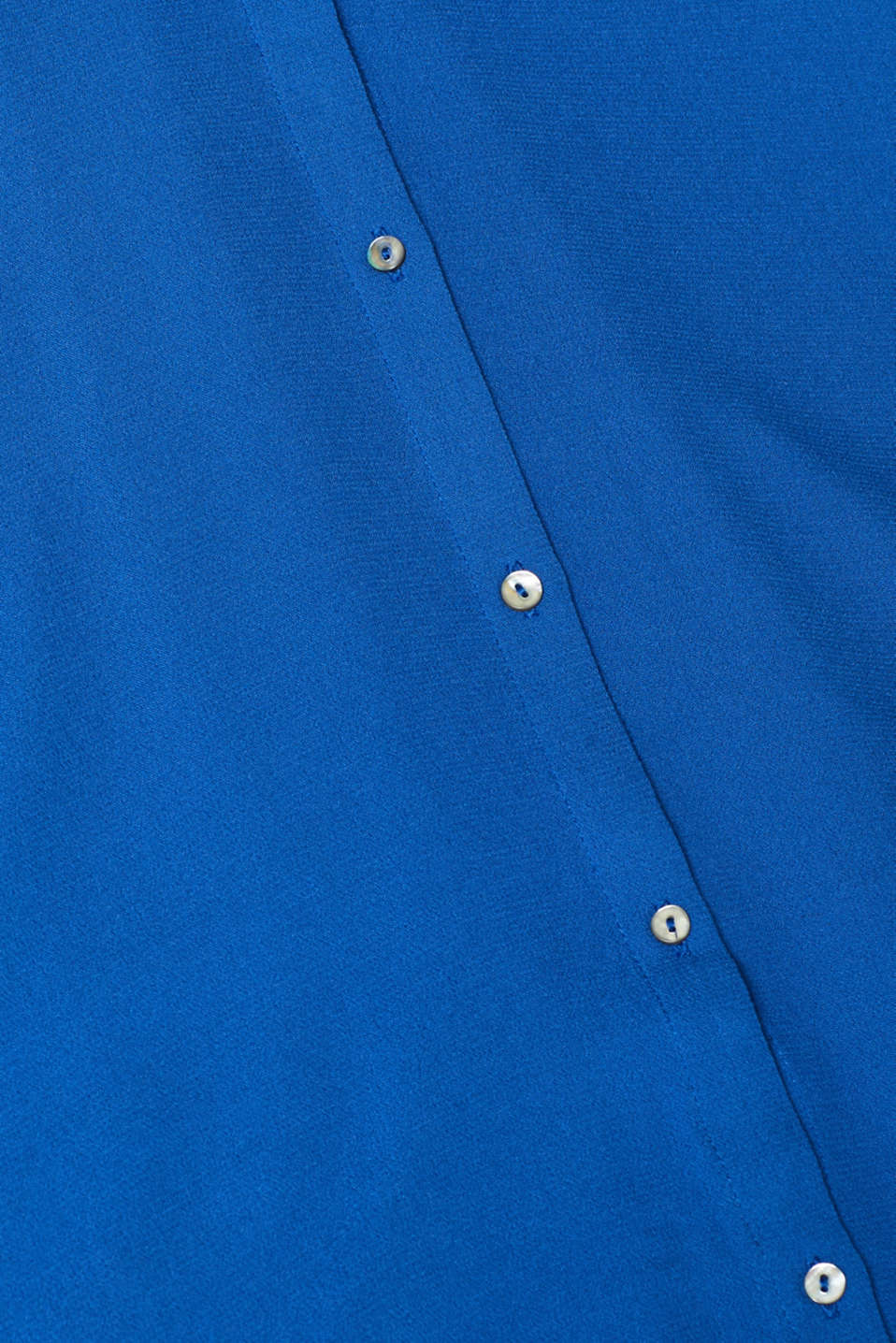 Shirt blouse in crêpe fabric, BLUE, detail image number 4