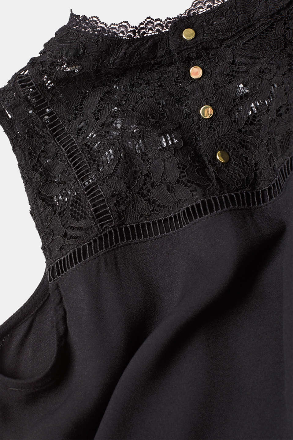 Blouses woven, BLACK, detail image number 4