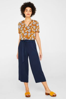 2-in-1 blouse top in crinkle chiffon, TOFFEE, detail