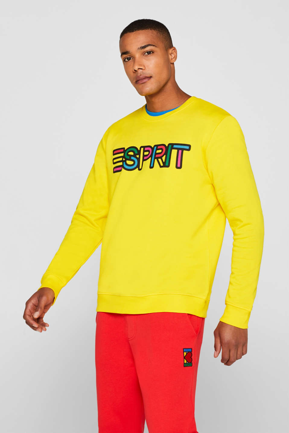 CRAIG & KARL: cotton sweatshirt, YELLOW, detail image number 0