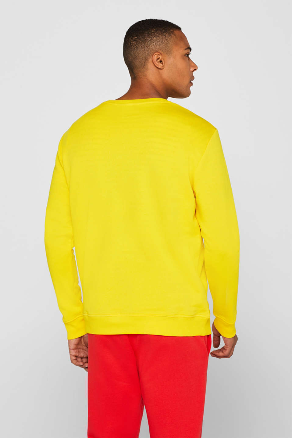CRAIG & KARL: cotton sweatshirt, YELLOW, detail image number 3