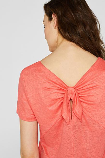 62684339bf 100% lino  camiseta con lazo en la parte posterior