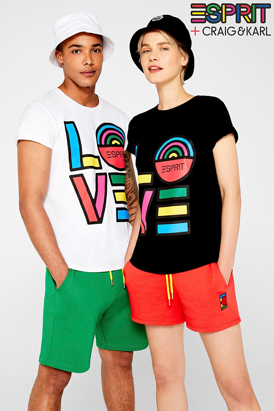CRAIG & KARL: T-shirt Love, 100% cotone biologico