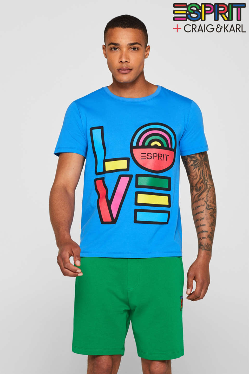 Esprit - CRAIG & KARL: love T-shirt, 100% organic cotton