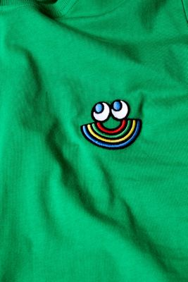 CRAIG & KARL: Love T-shirt, 100% organic cotton, GREEN, detail