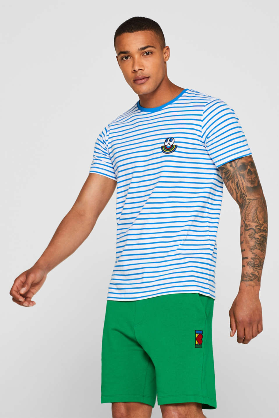 Esprit - CRAIG & KARL: Stripe T-Shirt, 100% organic cotton