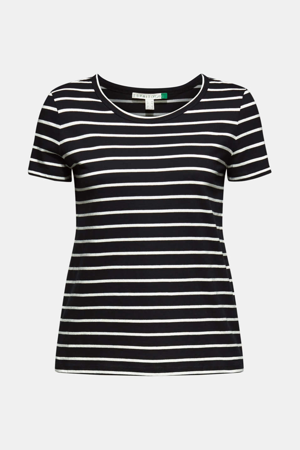Striped top with organic cotton, 100% cotton, BLACK, detail image number 5