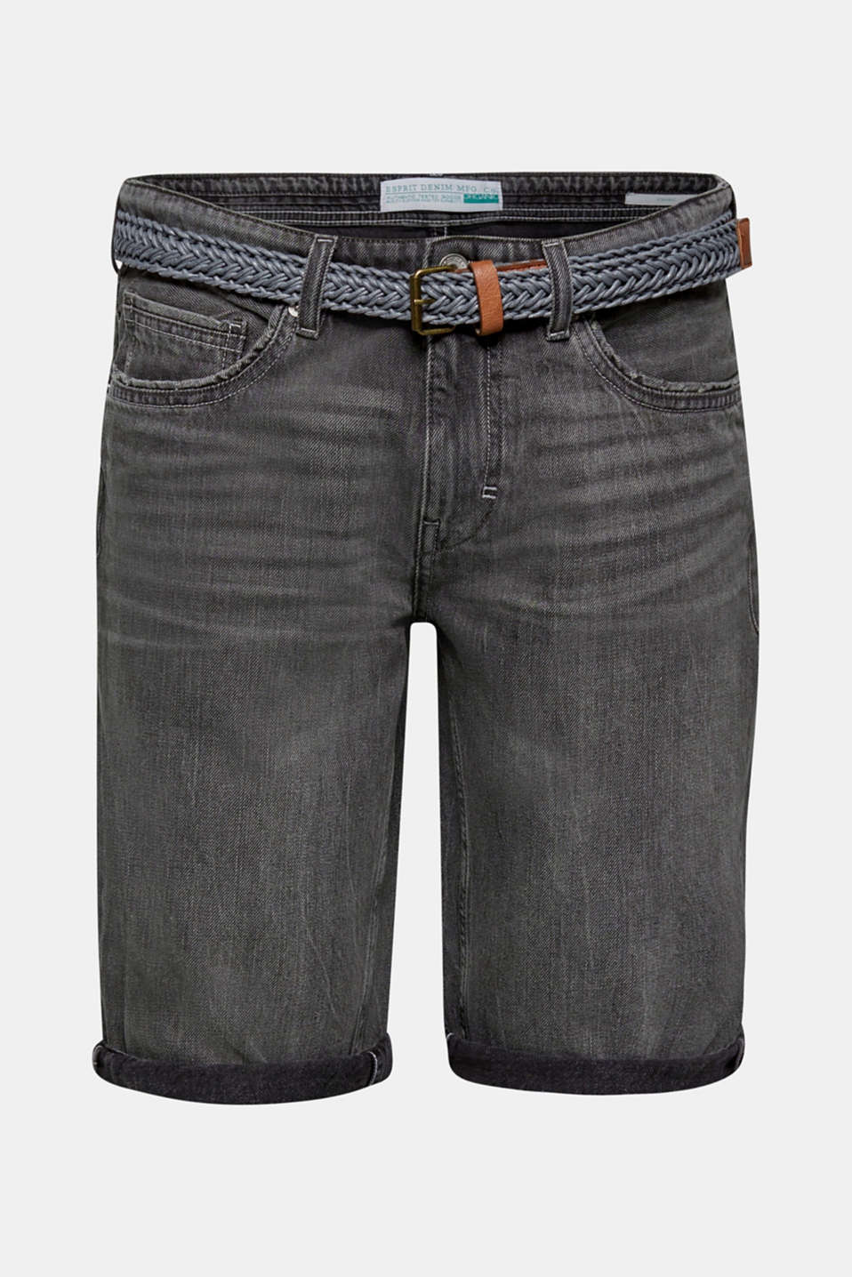Shorts denim, GREY MEDIUM WASH, detail image number 6