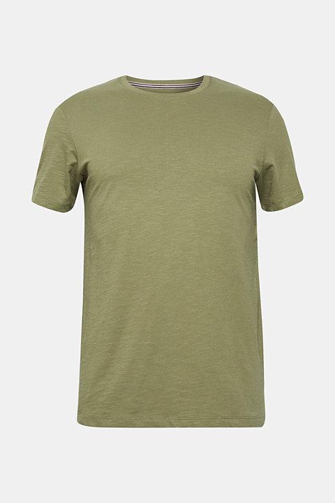 Slub jersey T-shirt in 100% cotton