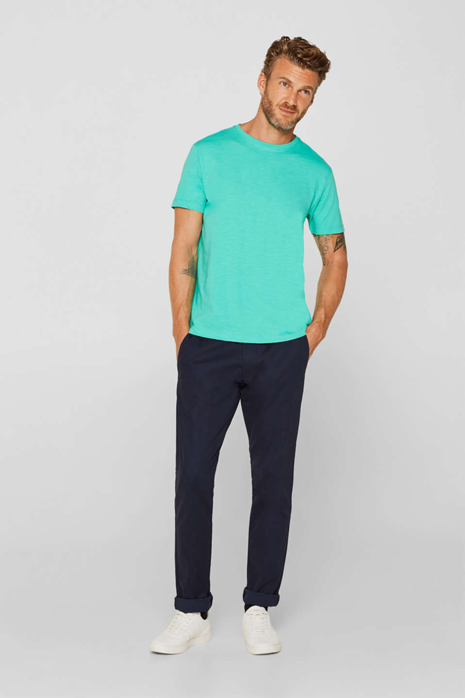 T-Shirts, AQUA GREEN, detail image number 4