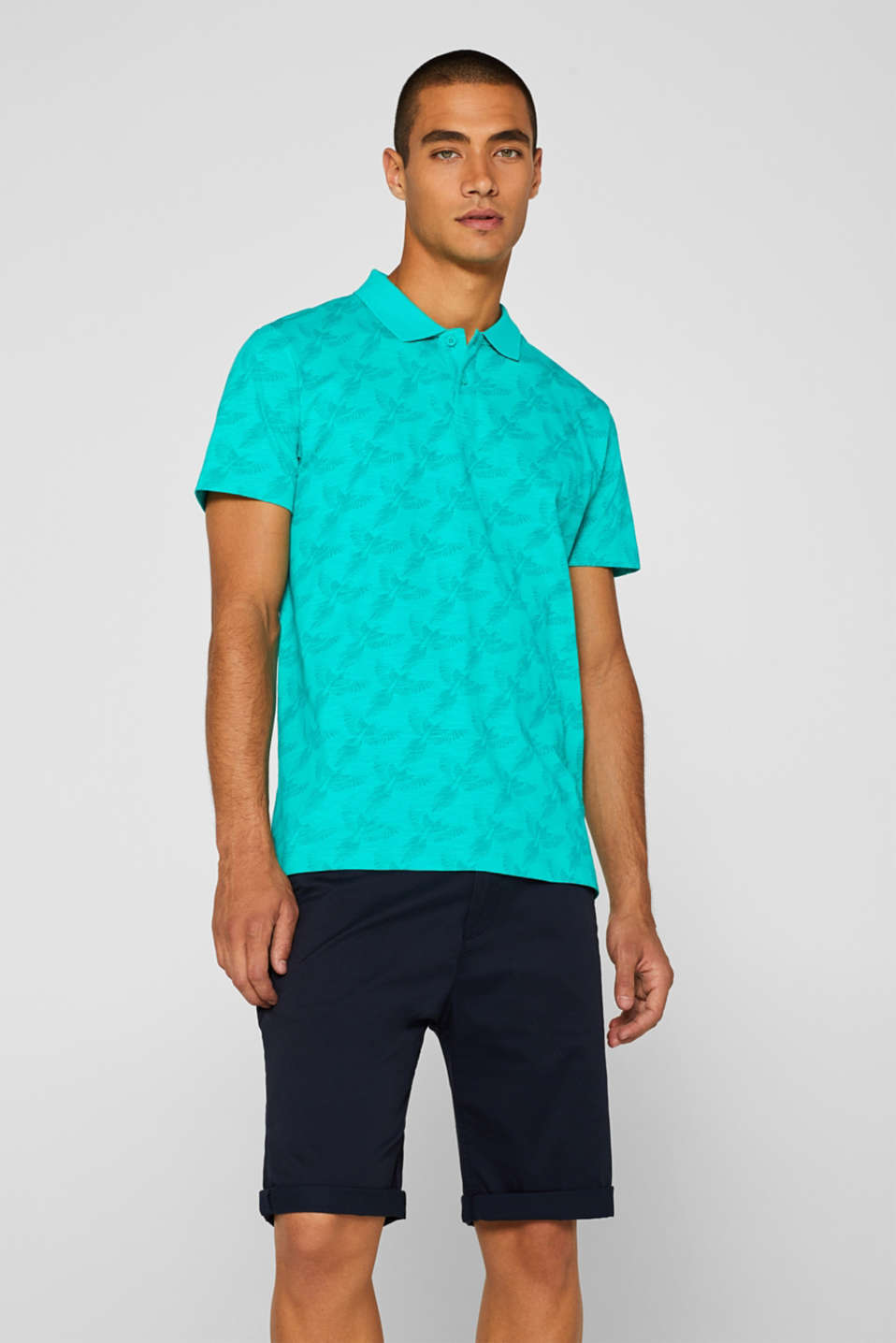 Polo shirts, AQUA GREEN, detail image number 0