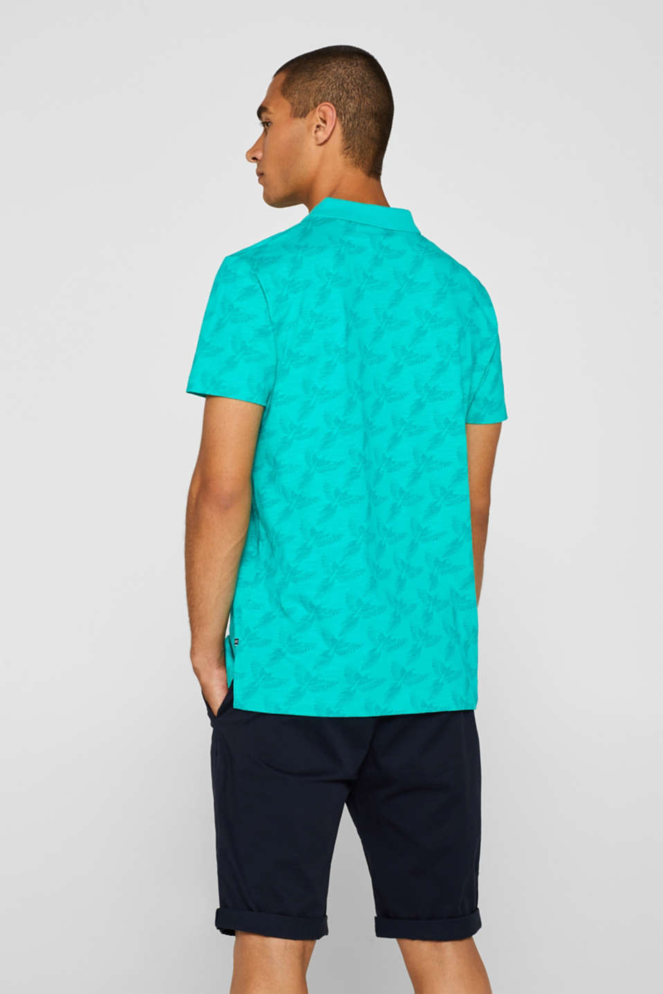 Polo shirts, AQUA GREEN, detail image number 3