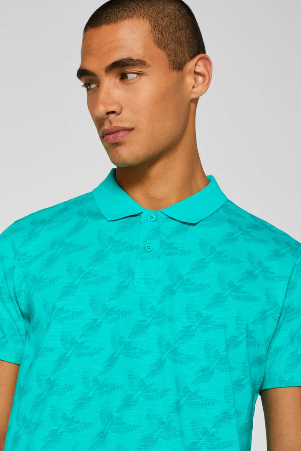 Polo shirts, AQUA GREEN, detail image number 5