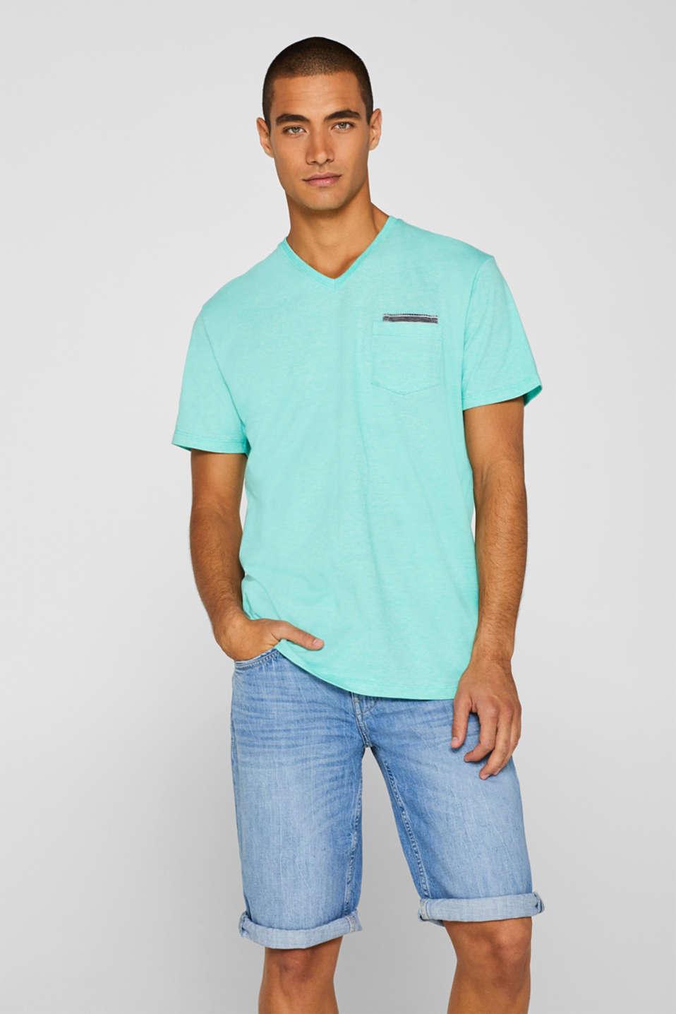 T-Shirts, AQUA GREEN, detail image number 0