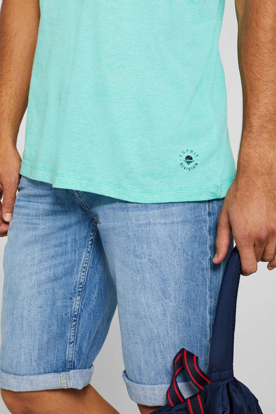 T-Shirts, AQUA GREEN, detail image number 1