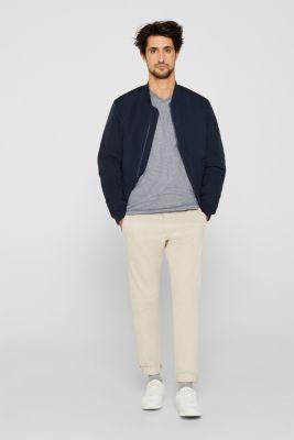 Jersey T-shirt in 100% cotton, NAVY, detail