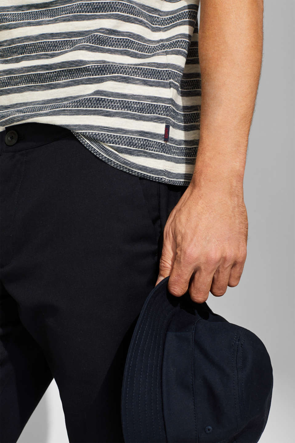 Jersey T-shirt with stripes and a breast pocket, OFF WHITE, detail image number 6