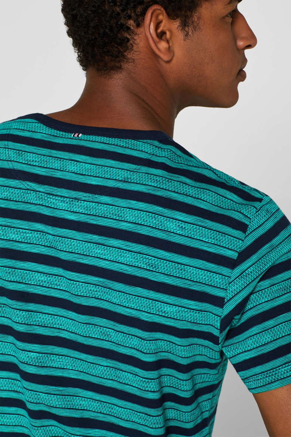 Jersey T-shirt with tribal stripes, 100% cotton, NAVY, detail image number 1