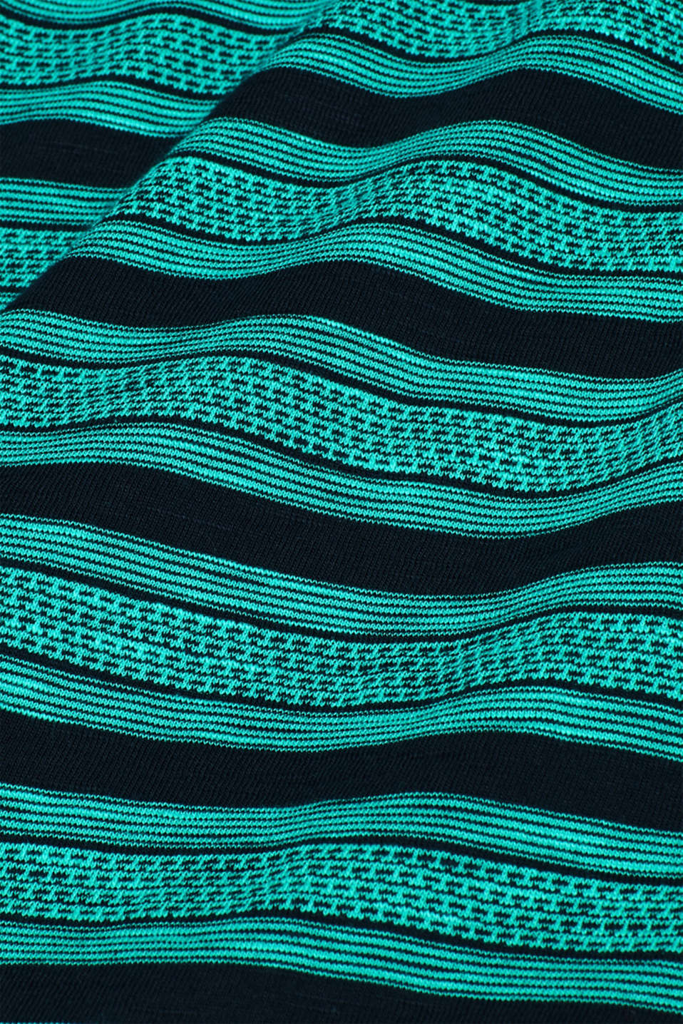 Jersey T-shirt with tribal stripes, 100% cotton, NAVY, detail image number 3