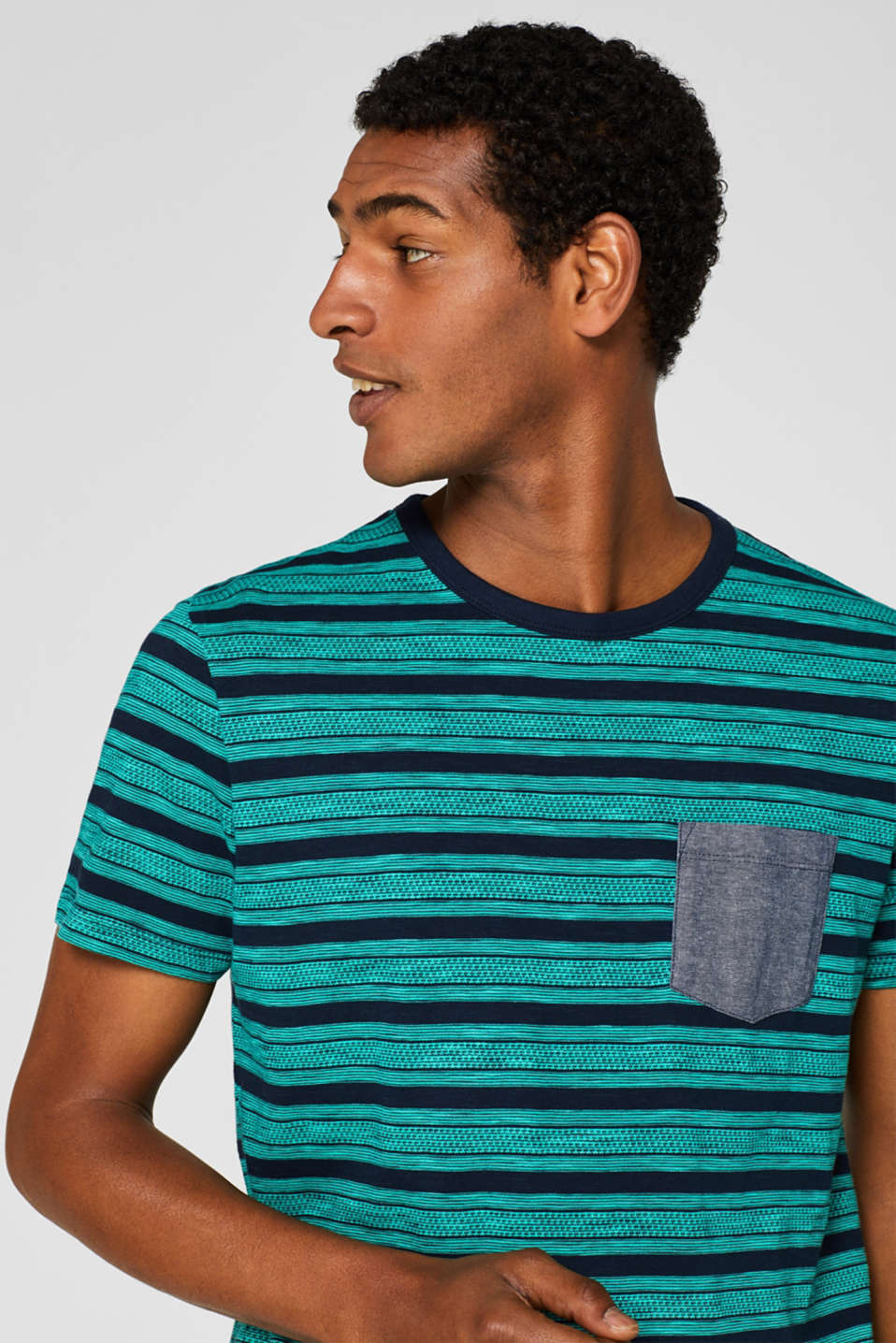 Jersey T-shirt with tribal stripes, 100% cotton, NAVY, detail image number 4